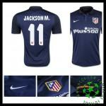 Camisas De Futebol Atlético De Madrid (11 Jackson M.) 2015/2016 Ii Masculina