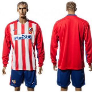 Atlético De Madrid Camisas Futebol Manga Longa 2015/2016 I Masculina