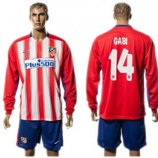 Atlético De Madrid Camisa Futebol Giba Manga Longa 2015 2016 I Masculina