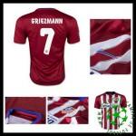 Camisa Futebol Atlético De Madrid (7 Griezmann) 2015 2016 I Masculina