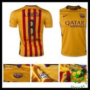 Camisa Du Futebol Barcelona (8 A.Iniesta) 2015-2016 Ii Masculina