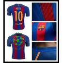 Comprou Uniforme De Futebol Messi Barcelona Masculina 2016-2017 I Loja On-Line