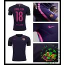 Uniforme De Futebol Barcelona Jordi Alba 2016-2017 Ii Masculina