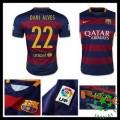 Camisa Futebol Barcelona (6 Dani Alves) 2015/2016 I Masculina