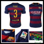 Camisas De Futebol Barcelona (3 Pique) 2015/2016 I Masculina