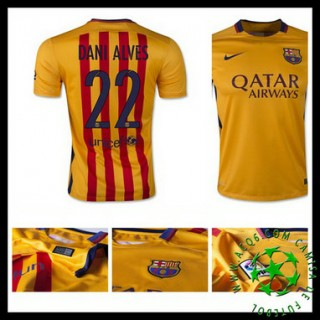 Camisa Barcelona (22 Dani Alves) 2015 2016 Ii Masculina
