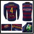 Camisa Futebol Barcelona (4 I.Rakitic) Manga Longa 2015-2016 I Masculina