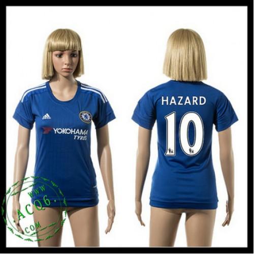 Chelsea Camisas Du Futebol Hazard 2015 2016 I Feminina - Camisa ... 8bac71d484954