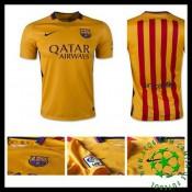 Camisa De Futebol Barcelona 2015-2016 Ii Masculina
