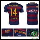 Camisa De Futebol Barcelona (14 Mascherano) 2015/2016 I Masculina