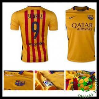 Camisas De Futebol Barcelona (9 Suarez) 2015 2016 Ii Masculina