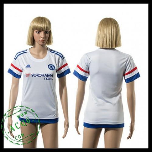 Chelsea Camisa Du Futebol 2015-2016 Ii Feminina - Camisa Clube ... 71d69c023210d