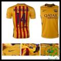 Camisa Futebol Barcelona (14 Mascherano) 2015 2016 Ii Masculina