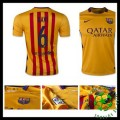 Camisas Futebol Barcelona (6 Xavi) 2015 2016 Ii Masculina