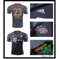 Uniforme De Futebol Bayern Munich Vidal 2016-2017 Ii Masculina