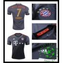 Uniforme De Futebol Bayern Munich Ribery 2016/2017 Ii Masculina