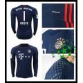 Camisas De Futebol Bayern Munich Neuer Manga Longa 2016-2017 I Goleiro