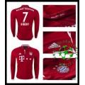 Camisas Bayern Munich Ribery Manga Longa 2016 2017 I Masculina