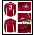Camisas Futebol Bayern Munich Lahm Manga Longa 2016-2017 I Masculina