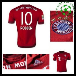 Camisa Futebol Bayern München (10 Robben) 2015-2016 I Masculina
