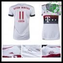 Camisa Futebol Bayern München (11 Costa) 2015-2016 Ii Feminina