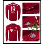 Camisa De Futebol Bayern Munich Gotze Manga Longa 2016-2017 I Masculina