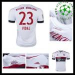 Camisa De Futebol Bayern München (23 Vidal) 2015-2016 Ii Masculina
