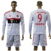 Bayern München Camisas Lewandowski Manga Longa 2015 2016 Ii Masculina