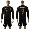 Bayern München Camisa Futebol Lewandowski Manga Longa 2015 2016 Iii Masculina