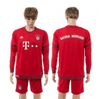 Bayern München Camisas De Futebol Manga Longa 2015/2016 I Masculina