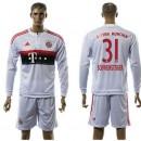 Bayern München Camisa Futebol Schweinsteiger Manga Longa 2015-2016 Ii Masculina