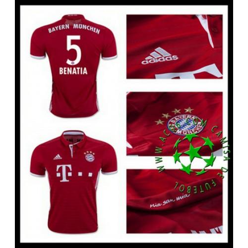 f603b46264 Uniforme De Futebol Bayern Munich Benatia 2016 2017 I Masculina ...