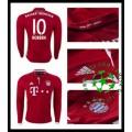 Camisetas Bayern Munich Robben Manga Longa 2016/2017 I Masculina