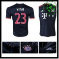 Camisetas Bayern München (23 Vidal) 2015-2016 Iii Masculina