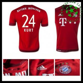 Camisetas Bayern München (24 Kurt) 2015/2016 I Masculina