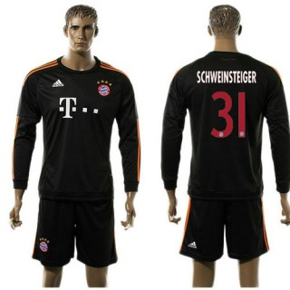 Bayern München Camisa De Futebol Schweinsteiger Manga Longa 2015-2016 Iii Masculina