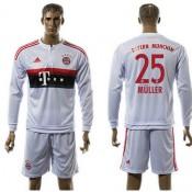 Bayern München Camisas Futebol Muller Manga Longa 2015/2016 Ii Masculina