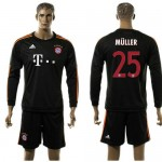 Bayern München Uniforme De Futebol Muller Manga Longa 2015/2016 Iii Masculina