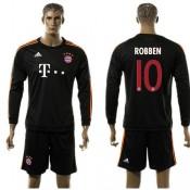 Bayern München Uniformes Futebol Robben Manga Longa 2015 2016 Iii Masculina