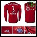 Camisa Futebol Bayern München (3 Alonso) Manga Longa 2015-2016 I Masculina