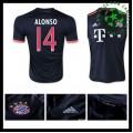 Camisas Futebol Bayern München (14 Alonso) 2015/2016 Iii Masculina
