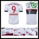 Camisa Du Futebol Bayern München (9 Lewandowski) 2015-2016 Ii Masculina