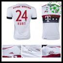 Camisa Bayern München (24 Kurt) 2015-2016 Ii Masculina