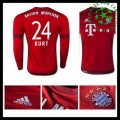 Camisa Futebol Bayern München (24 Kurt) Manga Longa 2015 2016 I Masculina