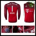 Camisas De Futebol Bayern München (1 Neuer) Manga Longa 2015/2016 Ii Goleiro