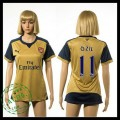 Arsenal Camisa Du Futebol Ozil 2015/2016 Ii Feminina