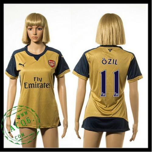 Arsenal Camisa Du Futebol Ozil 2015 2016 Ii Feminina - Camisa Clube ... 03afa9b02103a