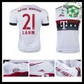 Camisa De Futebol Bayern München (21 Lahm) 2015 2016 Ii Masculina