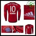 Camisas Du Futebol Bayern München (10 Robben) Manga Longa 2015 2016 I Masculina