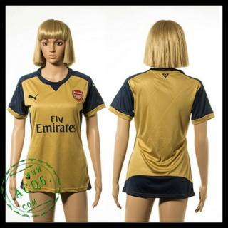 Arsenal Camisas De Futebol 2015/2016 Ii Feminina